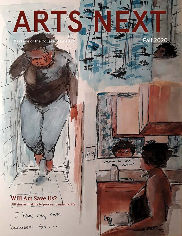 Cover of fall 2020 Arts Next