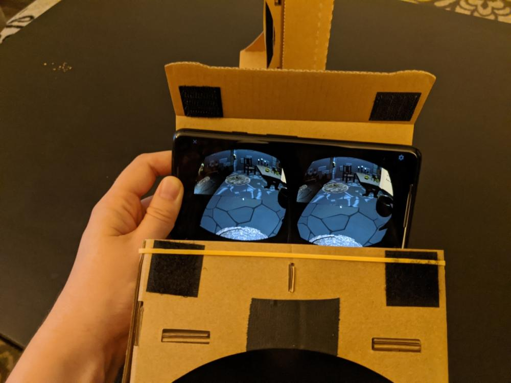 Make-shift VR set
