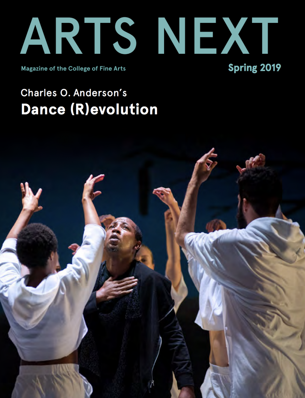 Cover of spring 2019 Arts Next