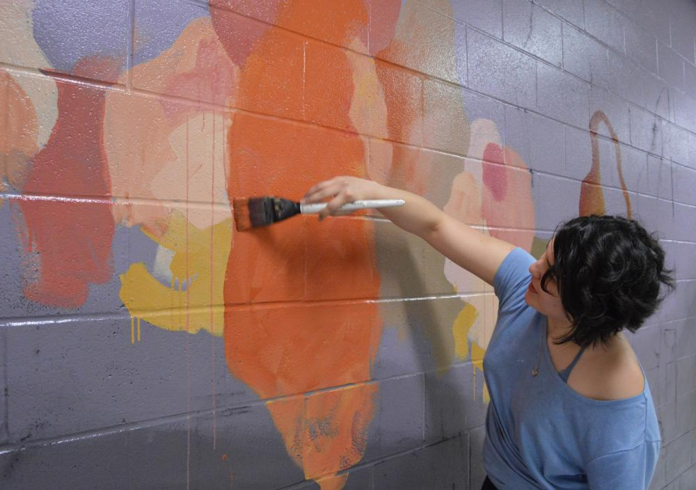 Studio Art Student Creates Mural For The Butler School Of Music