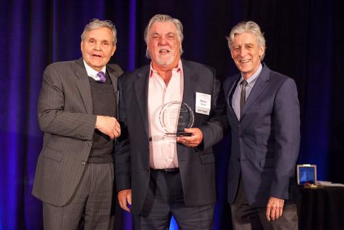Actor Bruce McGill with Chair Brant Pope and Dean Doug Dempster
