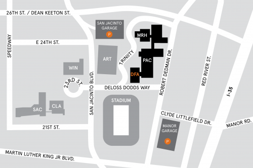 University Of Texas Map Maps, Directions, and Parking | College of Fine Arts   The