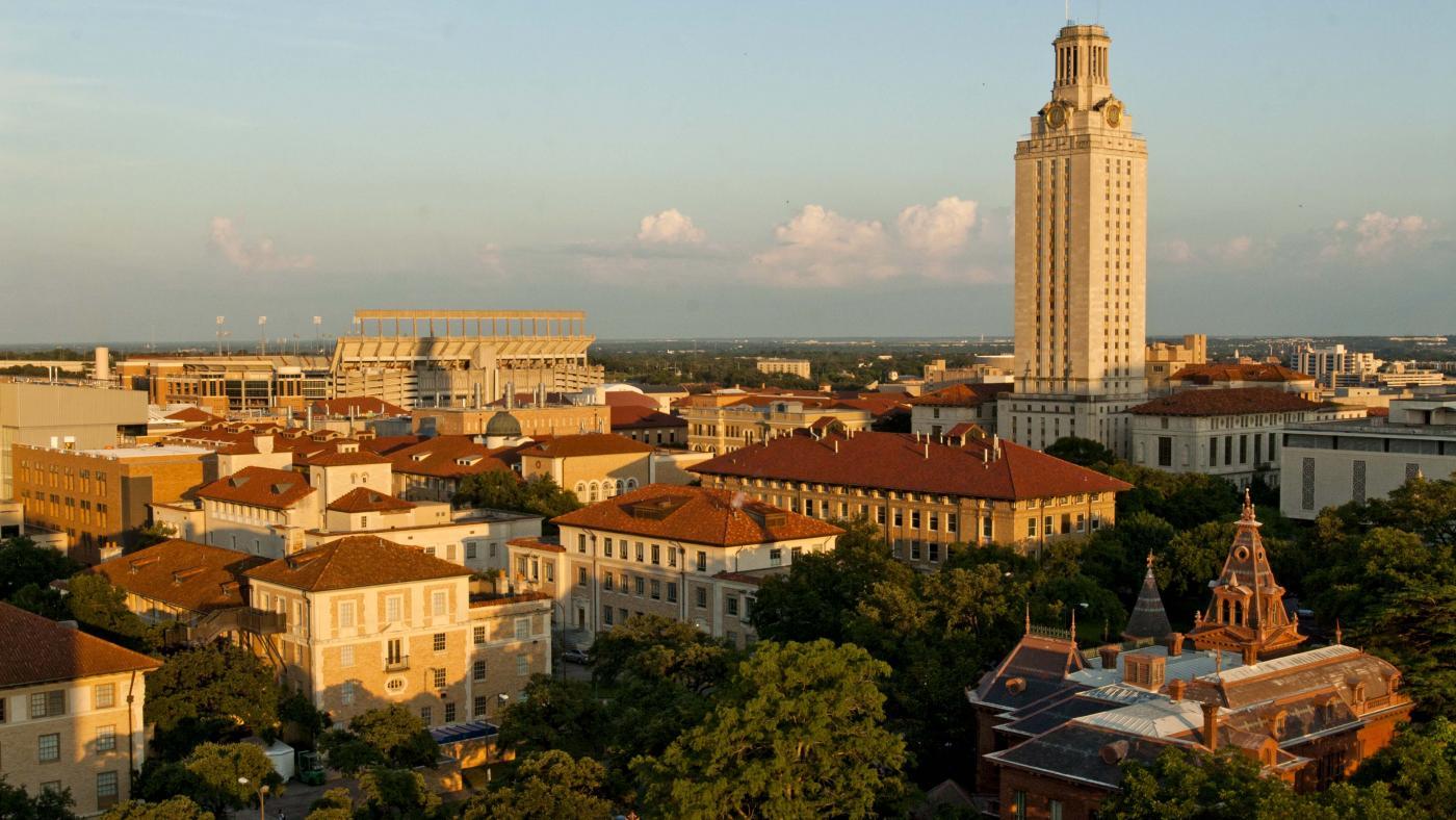 Bird's eye view of UT Austin campus. Photo by Marsha Miller.