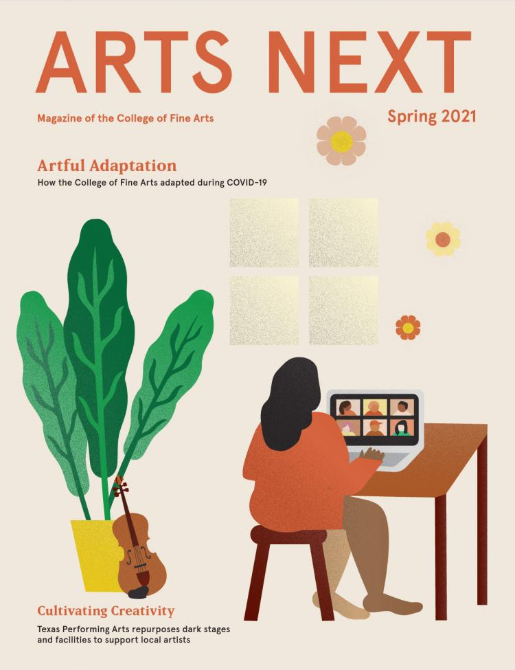 Cover of spring 2021 Arts Next issue