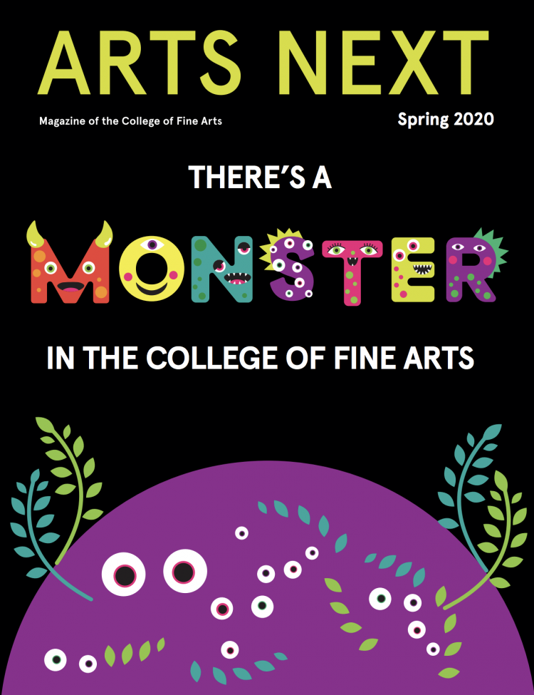 Cover of spring 2020 Arts Next