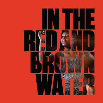 red and brown poster with text