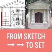 From sketch to set