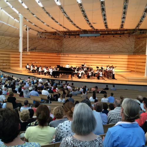 Anton Nel performs at the Aspen Music Festival.