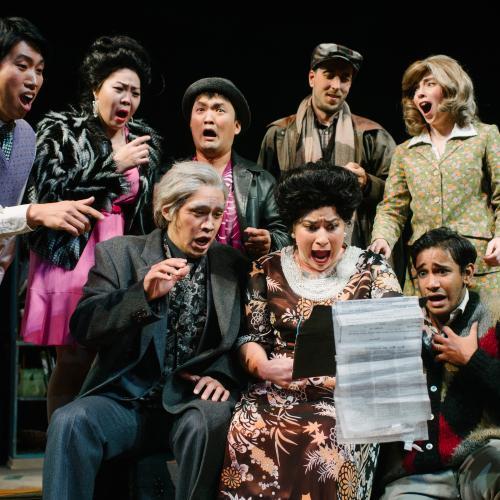 Students perform opera