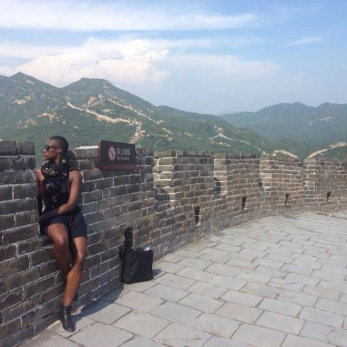 Ladonna Matchett at the Great Wall of China.