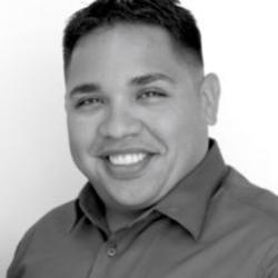 black and white photo of Eddie Lopez