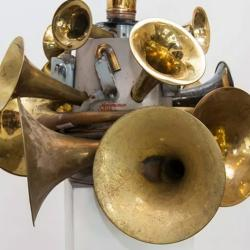 an image of brass instruments in a sculpture
