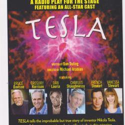 A poster for Dan Duling's play Tesla