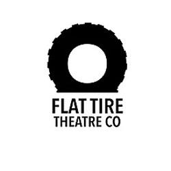 an image of a tire for Flat Tire Theatre logo