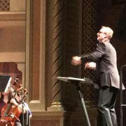 James Welsch conducts a youth orchestra
