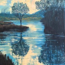 Kathryn St. Clair painting of a river