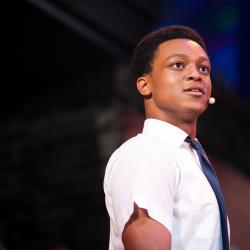 "J. Quinton Johnson stars as ""Benny"" in ""In the Heights"" in 2014 in the Department of Theatre and Dance. Photo by Lawrence Peart."