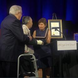 Joe and Teresa Long receive the Santa Rita award