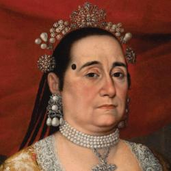 colonial Spanish America art work of a woman in royal attire