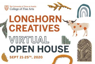 Longhorn Creatives Virtual Open House logo showcasing event dates of September 21-25