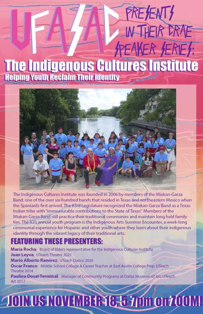 Flyer for Indigenous Cultures Institute