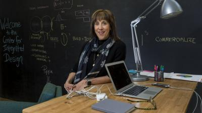 Doreen Lorenzo sits in her office