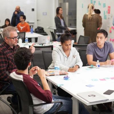 students at IBM class
