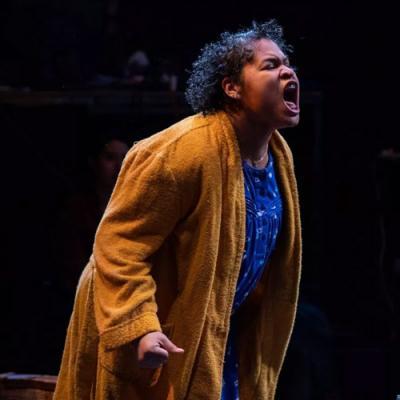 Image of woman yelling