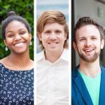 Three students portraits