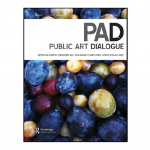 Public Art Dialogue and blueberries