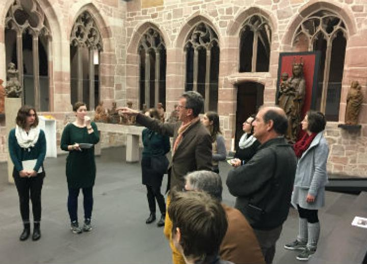 Students in the M.A. in Art History program visit a European site.