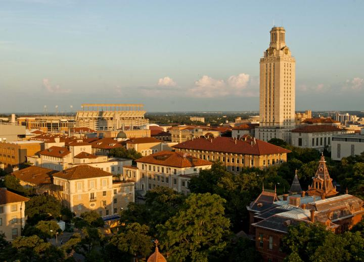 Bird's eye view of UT Austin campus. Photo by Marsha Miller.