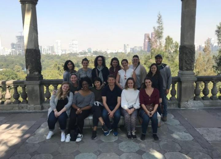 Students in Mexico City as part of a trip organized by CLAVIS