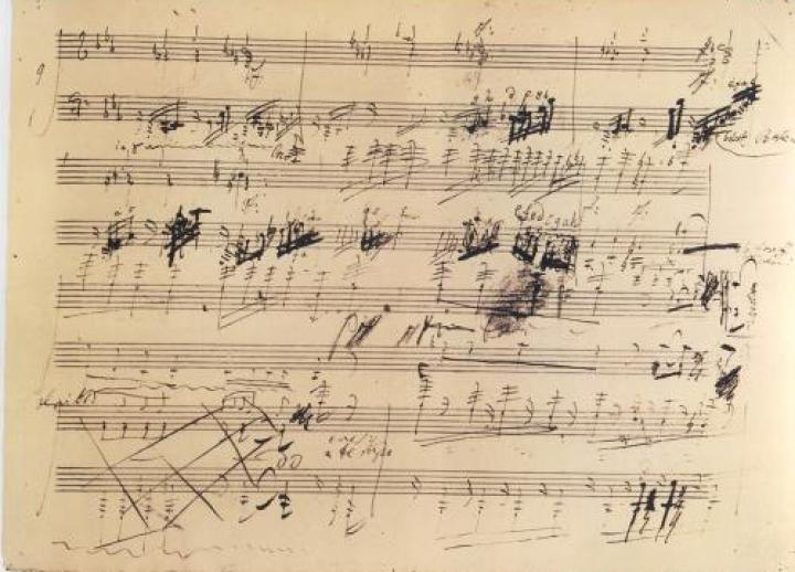 A draft of a musical score.