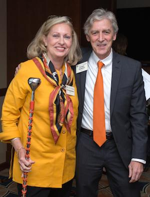 Vicki Bartholow, Advisory Council Chair, with Dean Doug Dempster