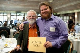 Dr. David O. Nilsson and Joseph Dailey, Theatre Studies student, at the 2012 Scholarship Luncheon. Photo by Sandy Carson